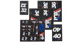 Fox AM Heritage Decal-Kit (Federgabel & Dämpfer) Red/white/Blue