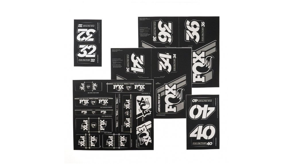 Fox AM Heritage Decal-Kit (Federgabel & Dämpfer) Silver