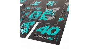 Fox AM Heritage Decal-Kit (Federgabel & Dämpfer) Turquoise