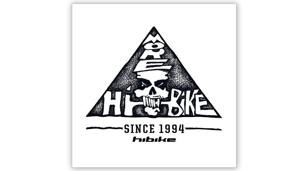 "HIBIKE 25 years 贴纸 ""Skull Logo"" 白色/黑色"