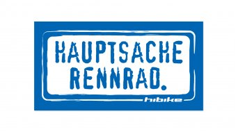 HIBIKE Hauptsache road bike. sticker blue/white (deck end )
