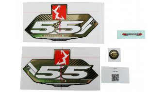 Marzocchi Sticker sada MY13 55 CR, Blk-Fork