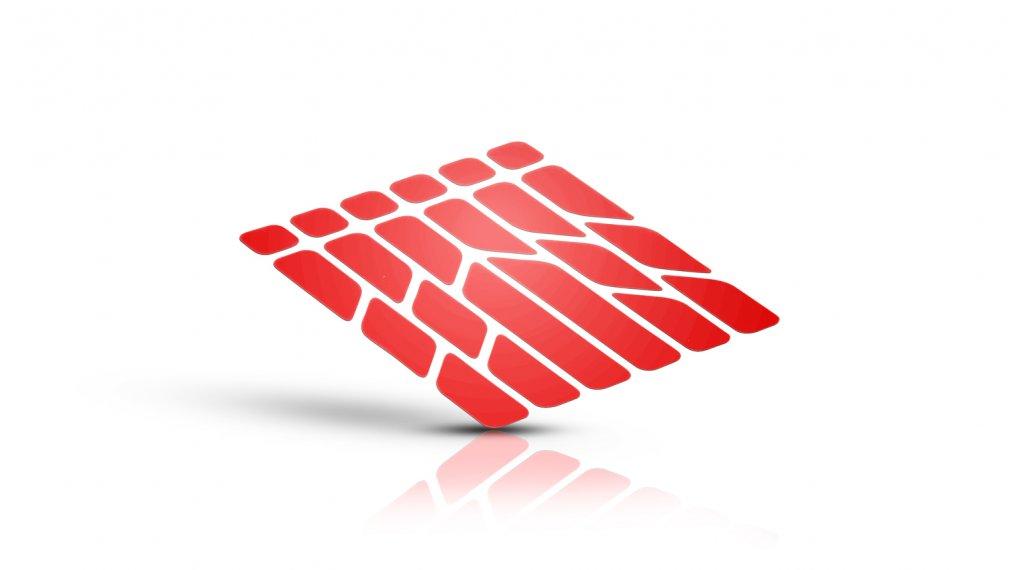 Riesel Design re:flex frame reflektierende Rahmen-Aufkleber Set red