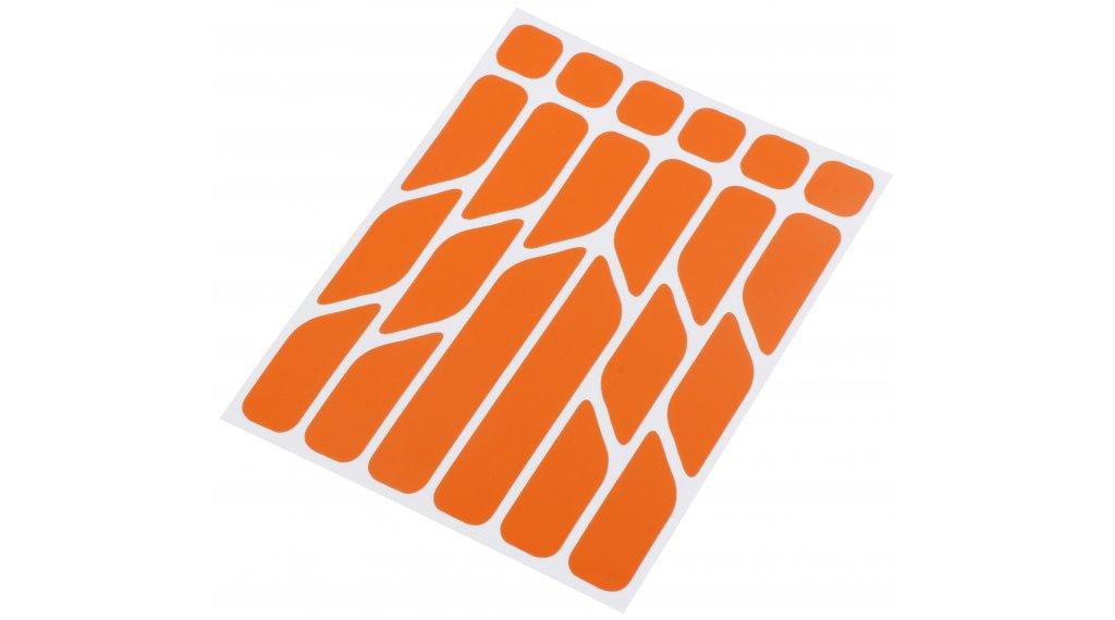 Riesel Design re:flex reflektierende Aufkleber Set orange