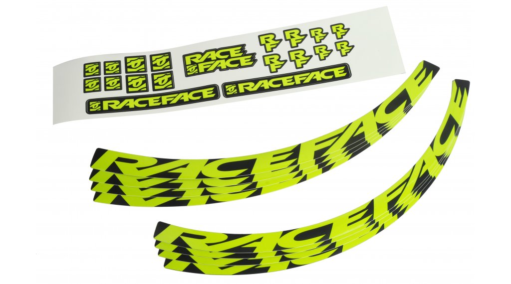 Race Face Felgenaufkleber-Kit Gr. Small neon yellow