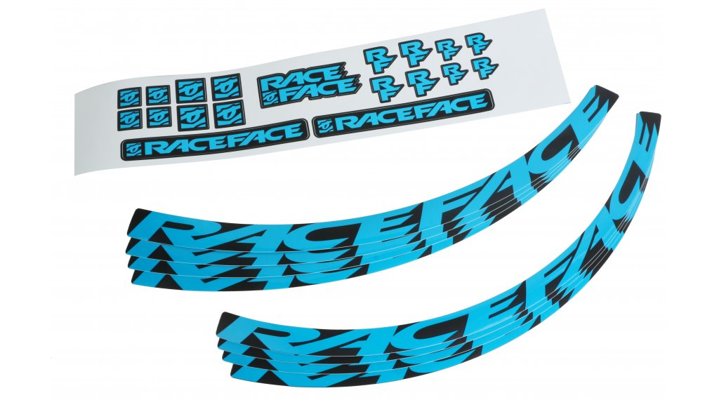 Teal RaceFace Decal Kit for Arc 35 Rims