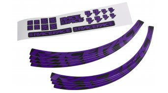 Race Face Wheel Decal Felgenaufkleber-Kit Medium purple