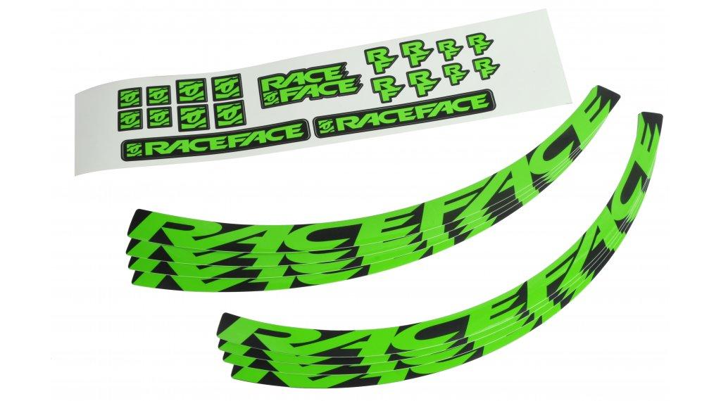 Race Face Felgenaufkleber-Kit Gr. Small neon green