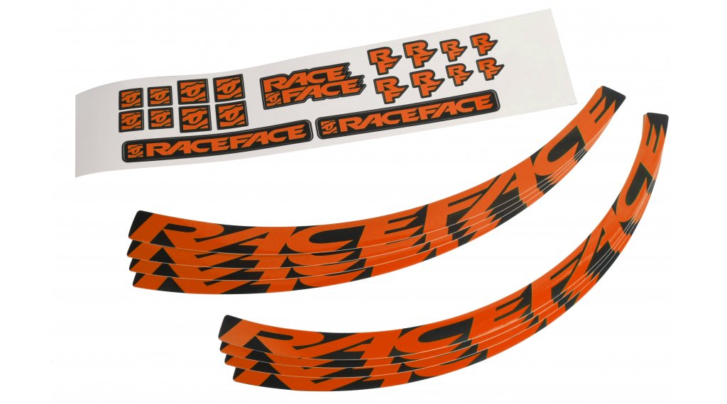 Race Face Wheel Decal Felgenaufkleber-Kit Large 橙色