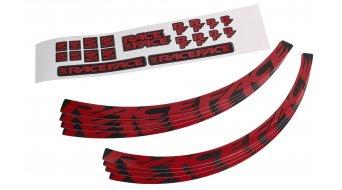 Race Face Wheel Decal Felgenaufkleber-Kit Large red