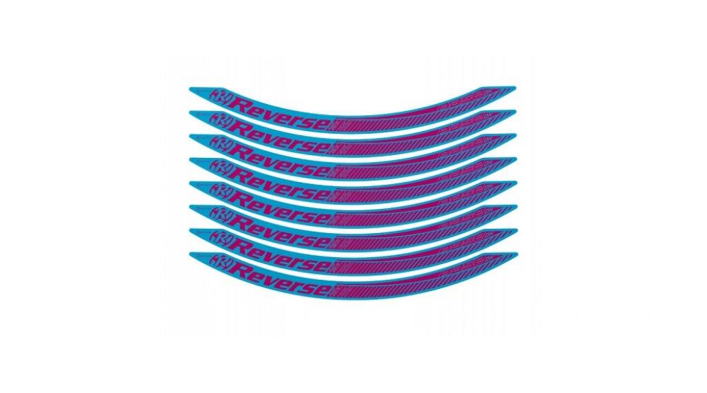 """Reverse Base DH 27,5""""/650B Aufkleberset light-blue/candy"""