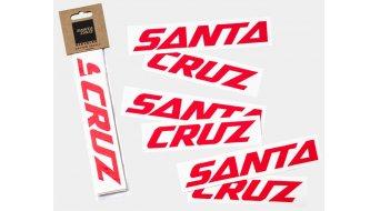 Santa Cruz Downtube Decal rouge