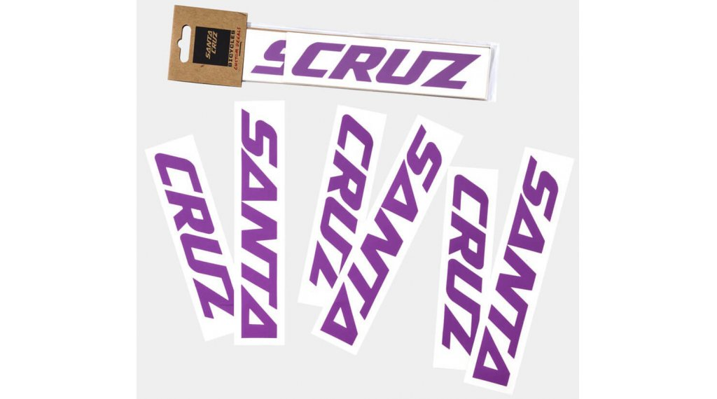 Santa Cruz Downtube Decal purple
