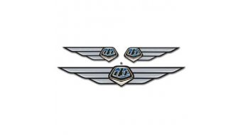 Troy Lee Designs Wing Emblem Aufkleber blue