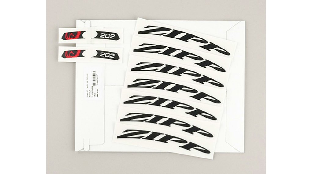 Zipp Aufkleberset für 202 MY14 - MY18 Tubular/Carbon Clincher mattschwarz