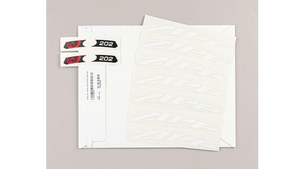 Zipp Aufkleberset für 202 MY14 - MY18 Tubular/Carbon Clincher mattweiß