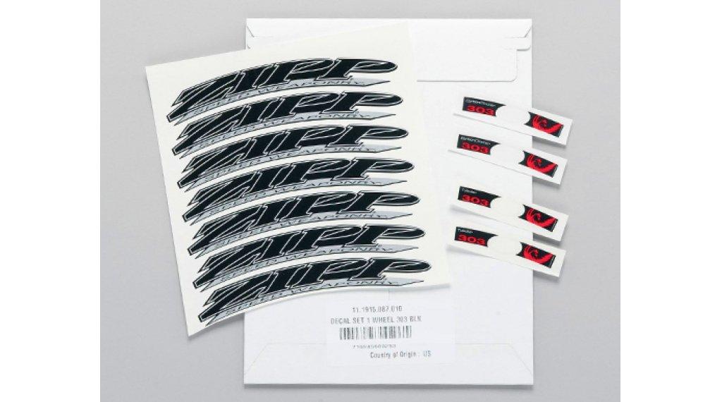 Zipp Aufkleberset für 303 MY08-11 Tubular/Carbon Clincher schwarz