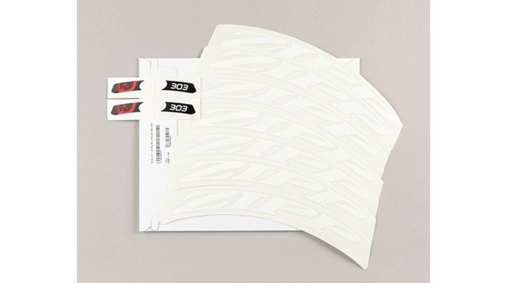 Zipp Aufkleberset für 303 MY14 - MY18 Tubular/Carbon Clincher mattweiß