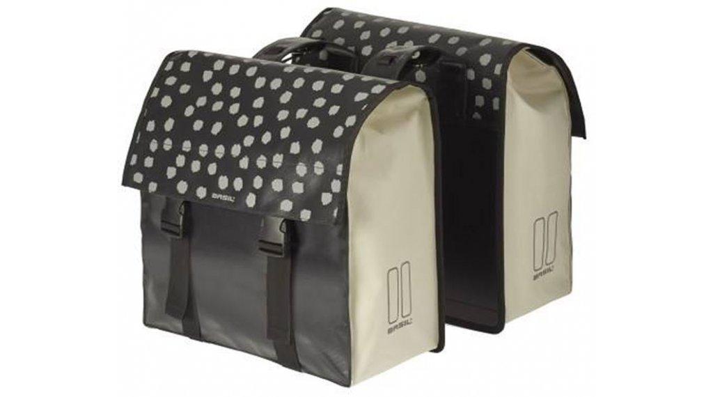 Basil Urban Load Doppeltasche 48-53L weiß/schwarz