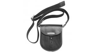 Brooks B1 Moulded de cuero bolso negro