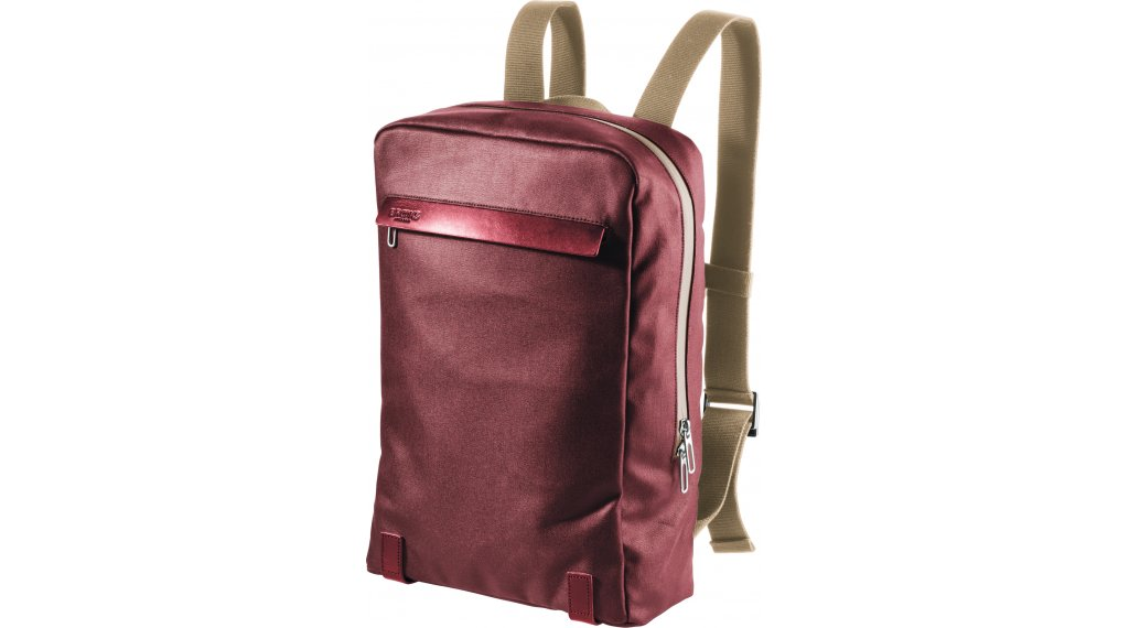 Brooks Pickzip Canvas Zaino per bici chianti maroon