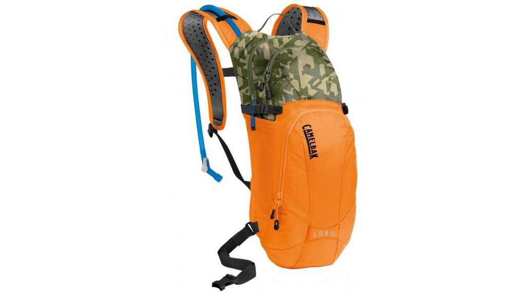 Camelbak Lobo Trinkrucksack inkl. 3 Liter Trinkblase russet orange/camouflage