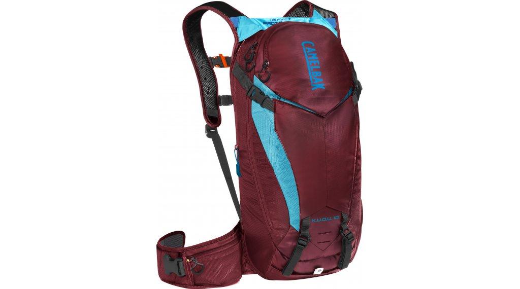 Camelbak K.U.D.U. Protector 10 双肩背包 有后背protektor (无 水袋) 型号 S/M burgundy/Lake blue