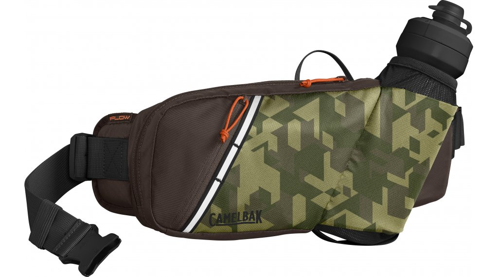 Camelbak Podium Flow Belt Trinkgürtel inkl. 620ml-Trinkblase camelflage/brown seal (2.62L-Packvolumen)