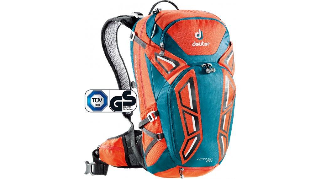 Deuter Attack 20 backpack papaya-petrol