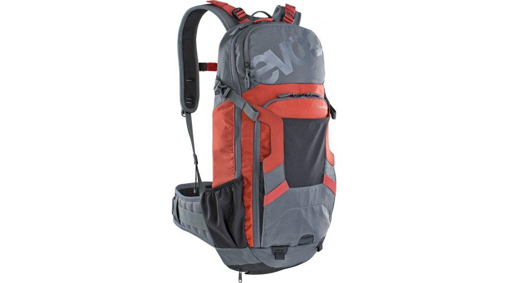 EVOC Freeride Enduro 16L 双肩背包 有Anti-Impact-System(防撞击系统) 型号 M/L carbon grey/chili red 款型 2020