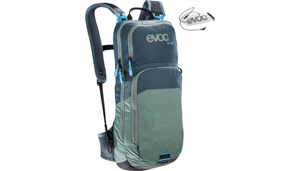EVOC CC 10L+2L 双肩背包 有水袋 slate-olive 款型 2020