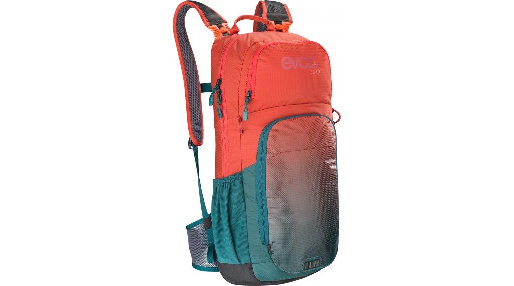 EVOC CC 16L+2L 双肩背包 有水袋 橙色/chili red 款型 2020
