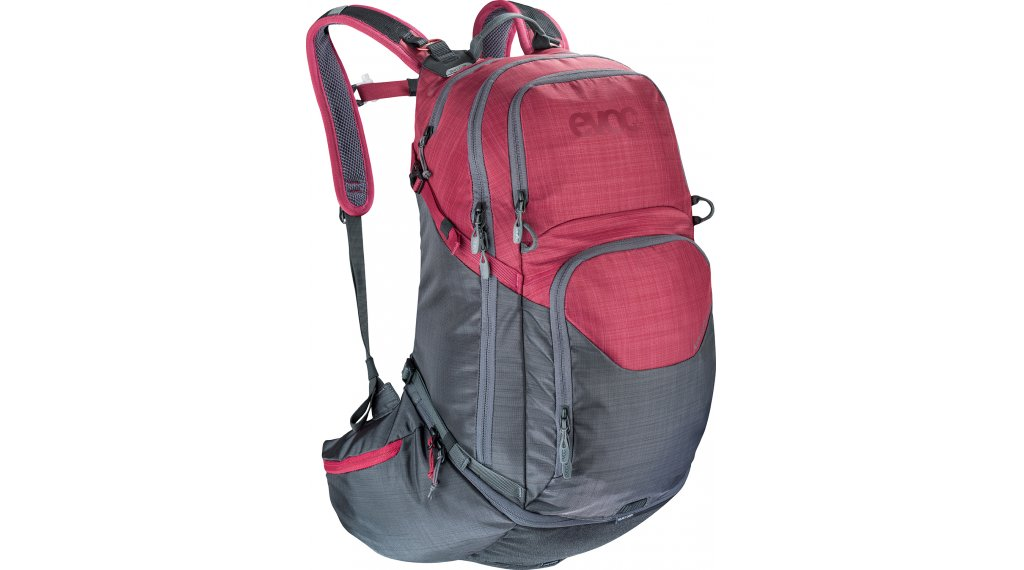 EVOC Explorer PRO 30L 双肩背包 heather carbon grey/heather ruby 款型2020