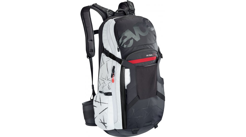 EVOC Freeride Trail Unlimited 20L Rucksack mit Anti-Impact System Gr. M/L black/white Mod.2020