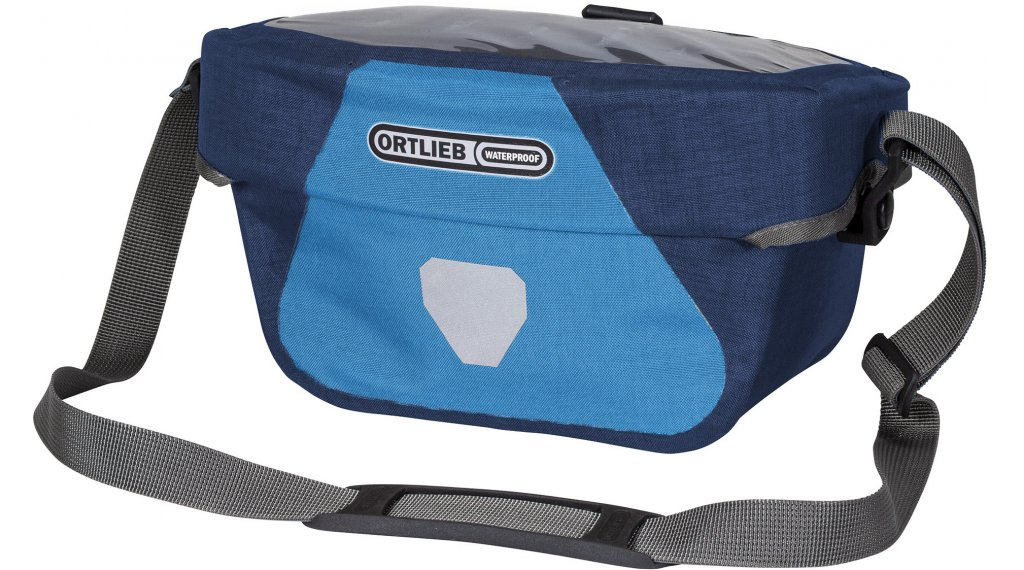 Ortlieb Ultimate Six Plus S handle bar pocket denim/steel blue