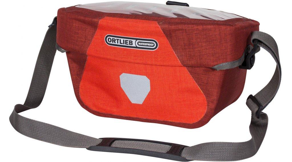 Ortlieb Ultimate Six Plus S handle bar pocket signal red/dark chili