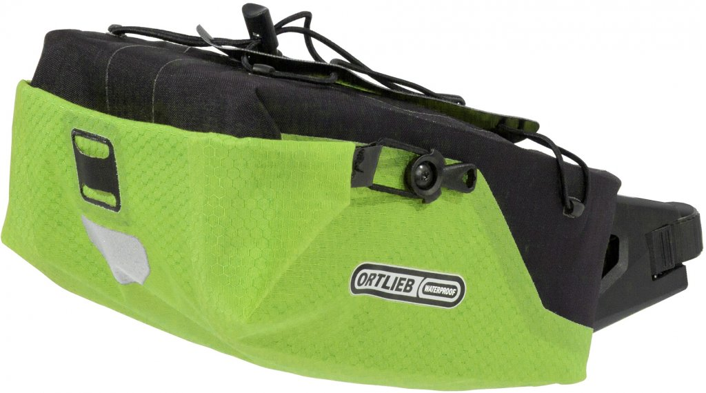 Ortlieb Seatpost-Bag bolso para tija del sillín tamaño M lime/negro (Volumen: 4 Liter)