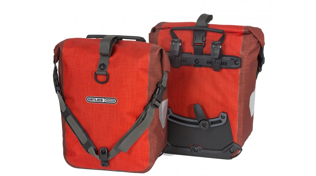Ortlieb Sport-Roller Plus Vorder-/Hinterradtaschen signal red/dark chili