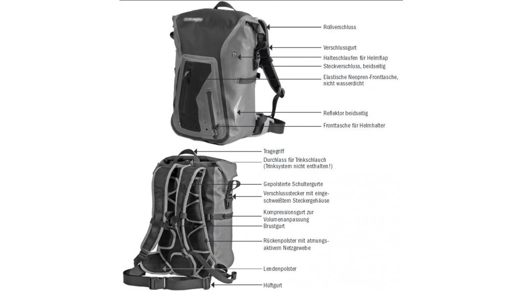 79c0b52809e Ortlieb Packman Pro2 backpack dark chili (capacity: 20 Liter)