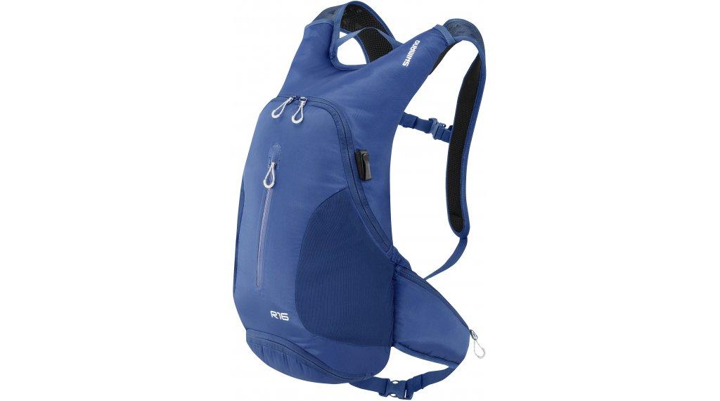 Shimano Rokko III Zaino per bici volume: 16 Liter estate blu