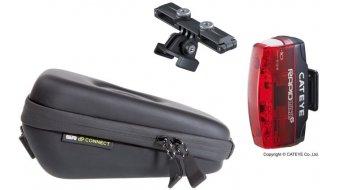 SP Connect Saddle Case Set Fahrrad-Satteltasche inkl. Cateye Micro G Rücklicht