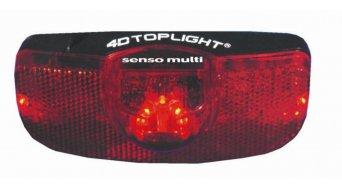 Busch & Müller 4D-Toplight Senso Multi Dynamo Rücklicht Gepäckträgermontage 50/80mm-Lochabstand mit Einschaltautomatik und Standlichtfunktion