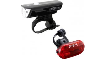 Cat Eye GVOLT25/Omni 3G HL-EL360GRC/TL-LD135G Beleuchtungs-Set schwarz
