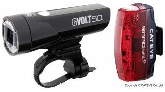 Cat Eye GVOLT50/ Rapid Micro G HL-EL550GRC/TL-LD620G Beleuchtungs-Set schwarz/silber