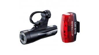 Cat Eye GVOLT70/Rapid Micro G HL-EL550GRC/TL-LD620G Beleuchtungs-Set schwarz/rot