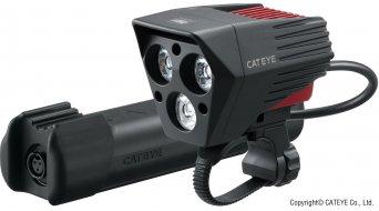 Cat Eye HL-EL 930RC SUMO3 LED Beleuchtung schwarz (inkl. Flex-Tight/Helmhalterung/Li-Ion Akku)