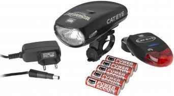 Cat Eye HL-1600 G / TL-LD 250 G Beleuchtungskit schwarz (inkl. Ladegerät/Batterien)