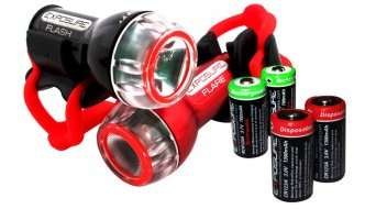 Exposure Lights Flash LED-luz delantera juego negro(-a) u. Flare rojo(-a) incl. Stangenhalterung/pila