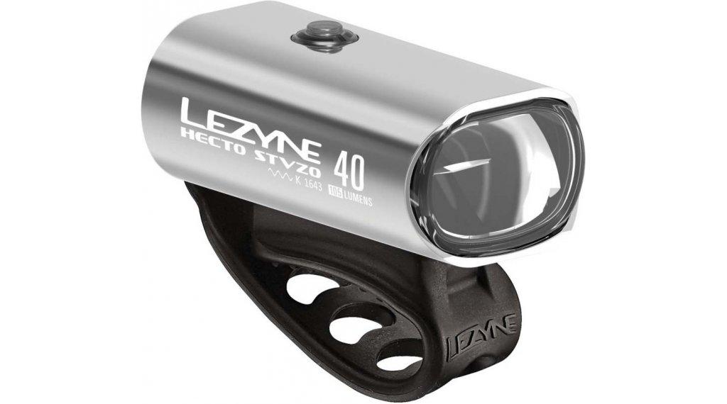 Lezyne Hecto Drive 40 Frontlicht (StVZO-konform) silber