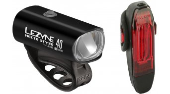 Lezyne Hecto40-Front lamp and KTV-rear light, lighting system set black 2018